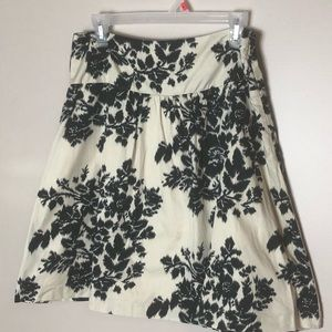 The Limited black and cream skirt size 8